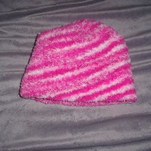Other - toddler pink fuzzy soft girls hat one size